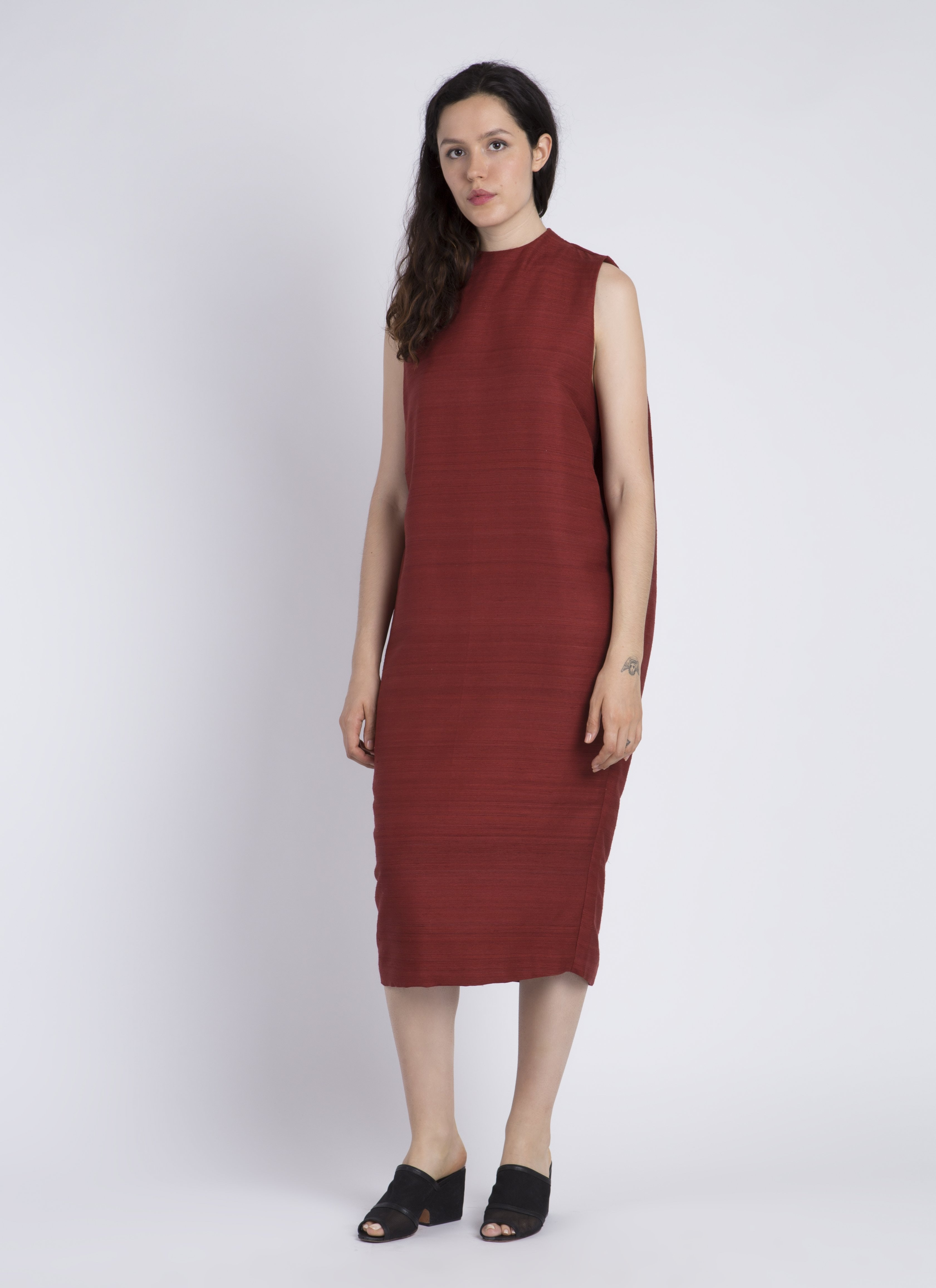 High Neck Silk Dresses
